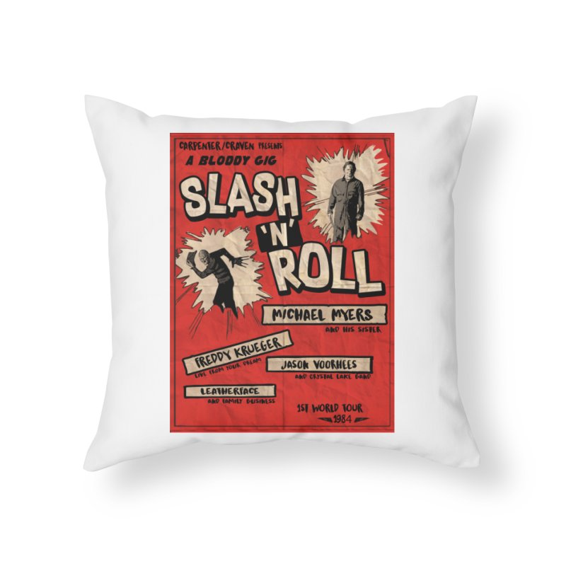 Slash And Roll Home Throw Pillow by oldtee's Artist Shop