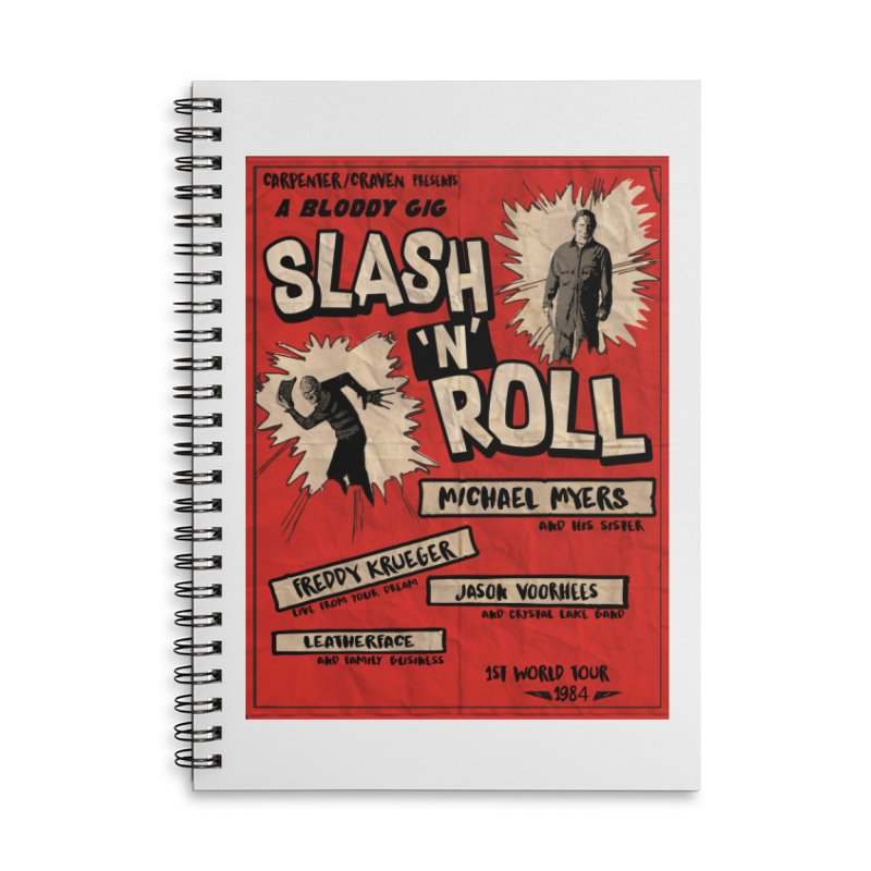 Slash And Roll Accessories Lined Spiral Notebook by oldtee's Artist Shop