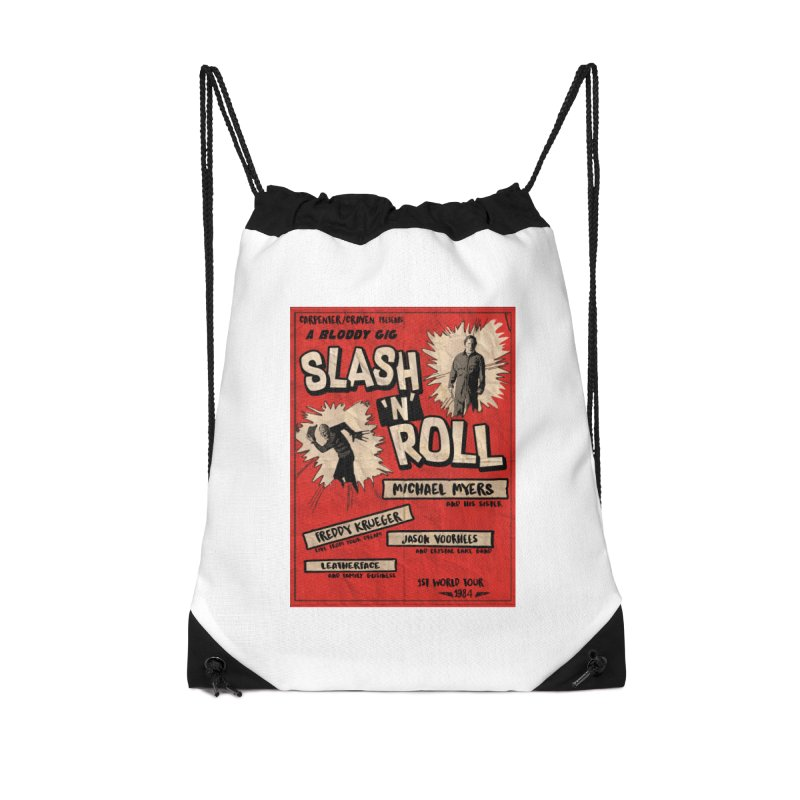 Slash And Roll Accessories Drawstring Bag Bag by oldtee's Artist Shop