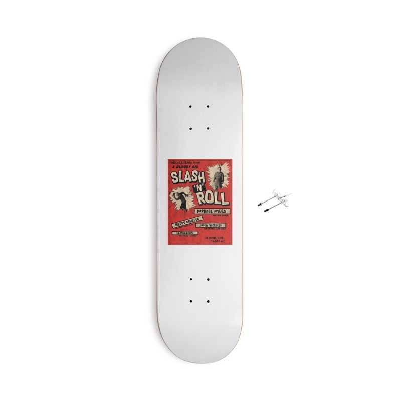 Slash And Roll Accessories With Hanging Hardware Skateboard by oldtee's Artist Shop