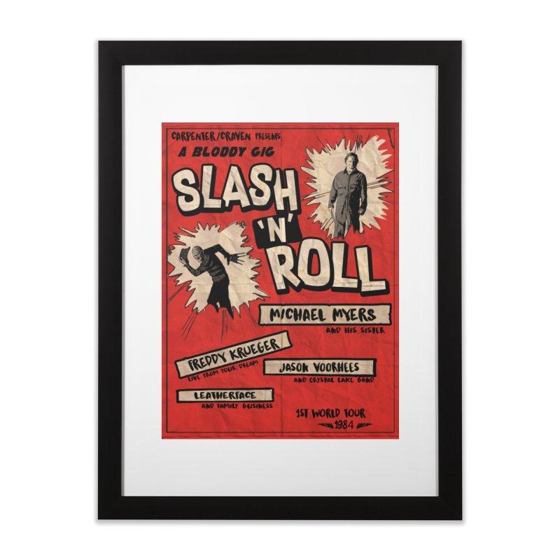 Slash And Roll Home Framed Fine Art Print by oldtee's Artist Shop