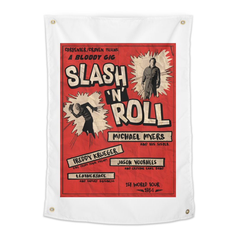 Slash And Roll Home Tapestry by oldtee's Artist Shop