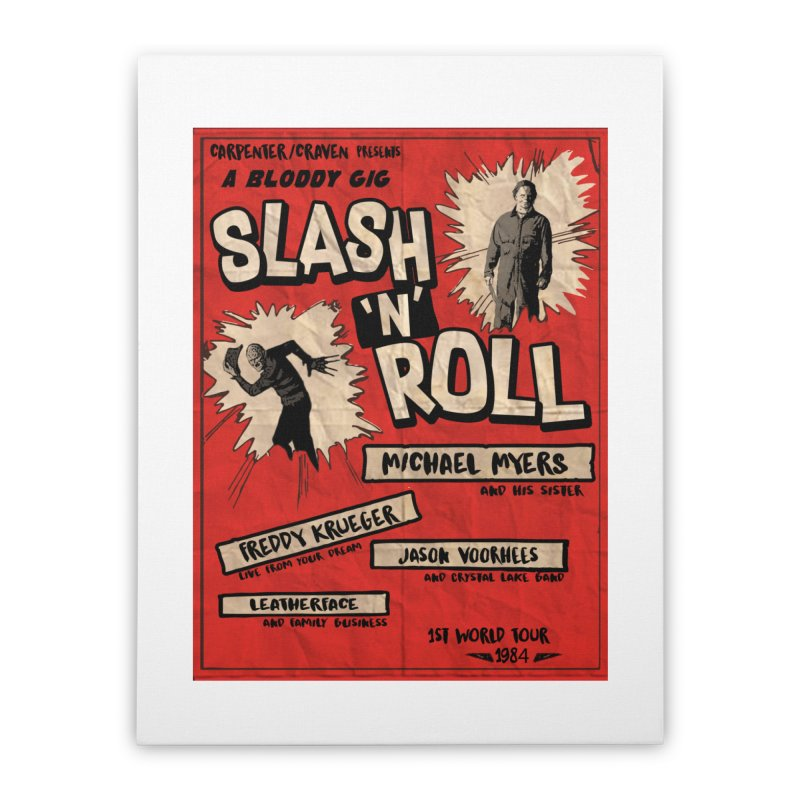 Slash And Roll Home Stretched Canvas by oldtee's Artist Shop