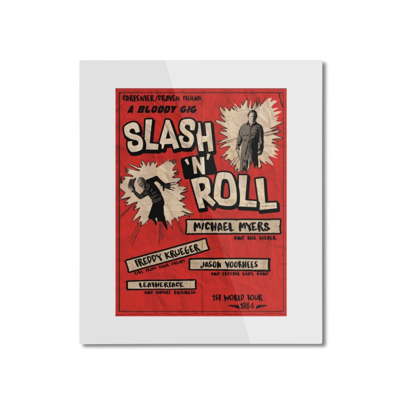 Slash And Roll Home Mounted Aluminum Print by oldtee's Artist Shop