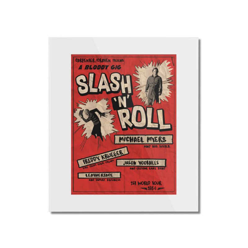 Slash And Roll Home Mounted Acrylic Print by oldtee's Artist Shop