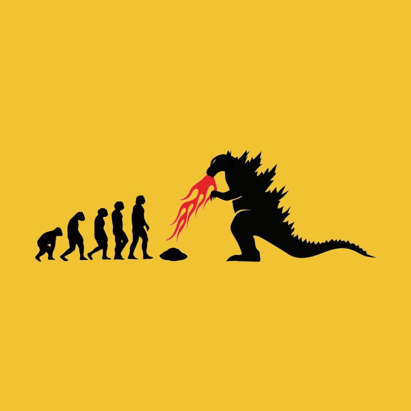 Evolution Godzilla Men's T-Shirt by oldtee's Artist Shop