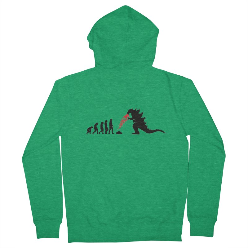Evolution Godzilla Men's Zip-Up Hoody by oldtee's Artist Shop