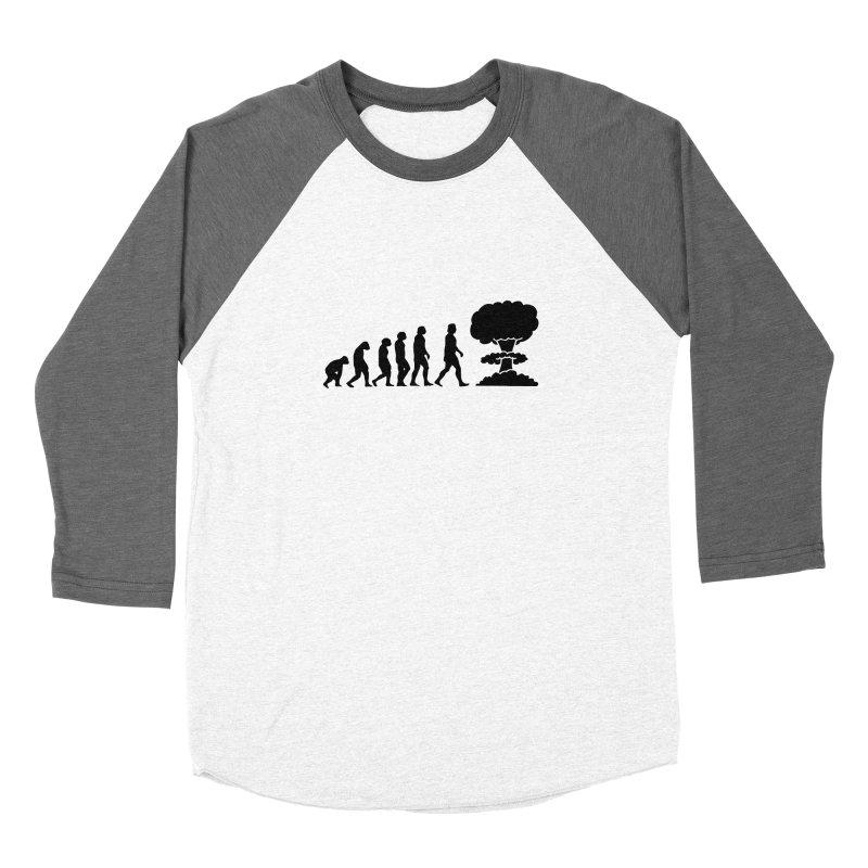 Evolution ends Nuclear Women's Longsleeve T-Shirt by oldtee's Artist Shop