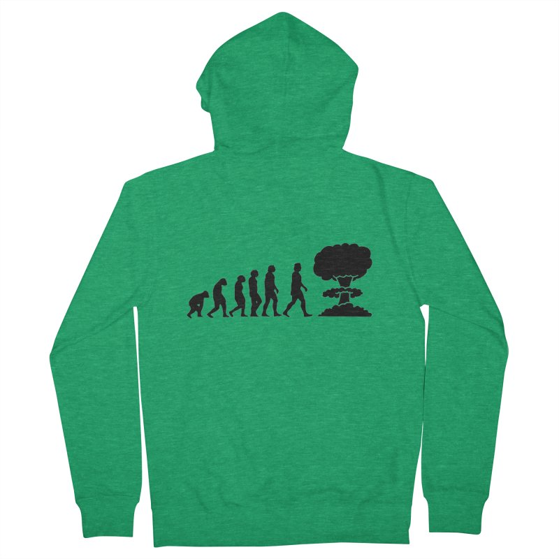 Evolution ends Nuclear Women's Zip-Up Hoody by oldtee's Artist Shop