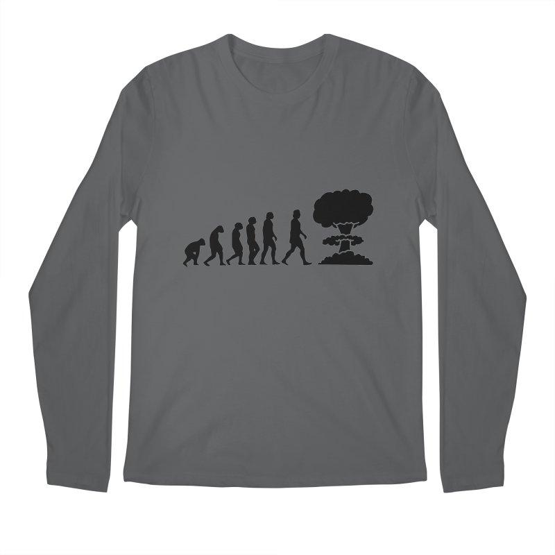 Evolution ends Nuclear Men's Longsleeve T-Shirt by oldtee's Artist Shop