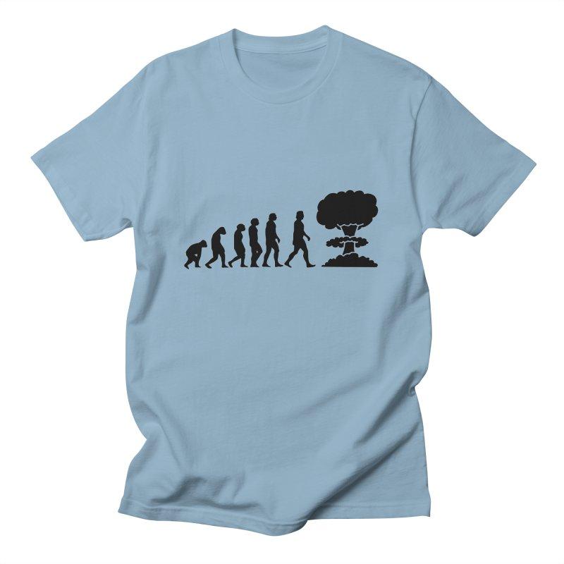 Evolution ends Nuclear Men's T-Shirt by oldtee's Artist Shop