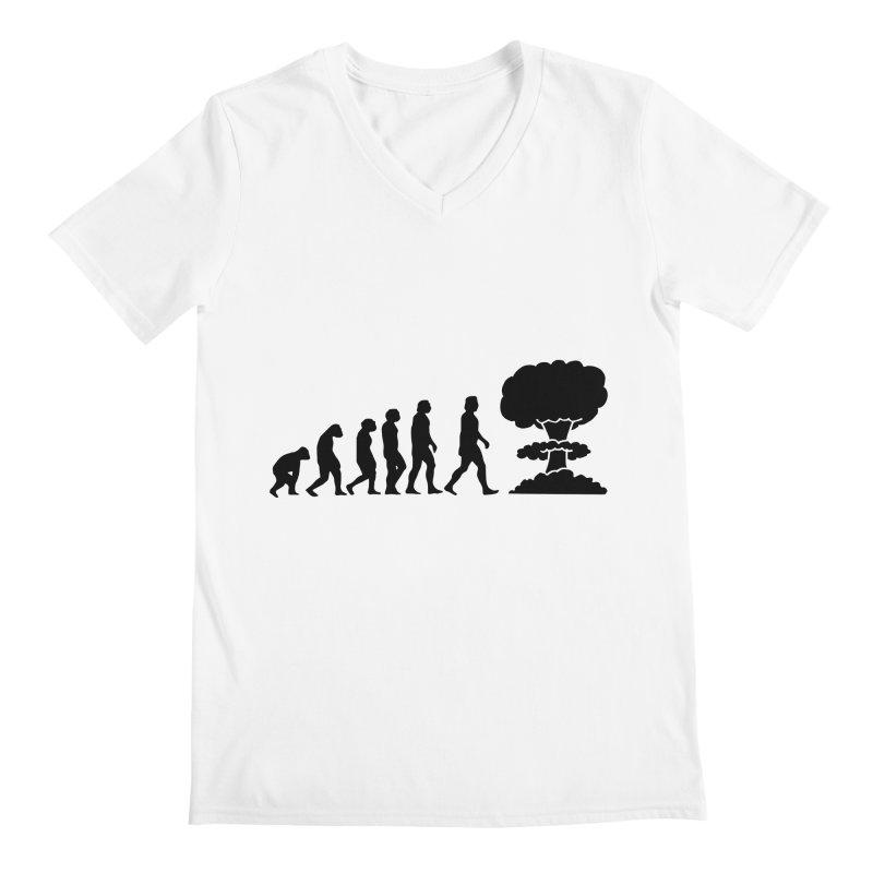 Evolution ends Nuclear Men's V-Neck by oldtee's Artist Shop