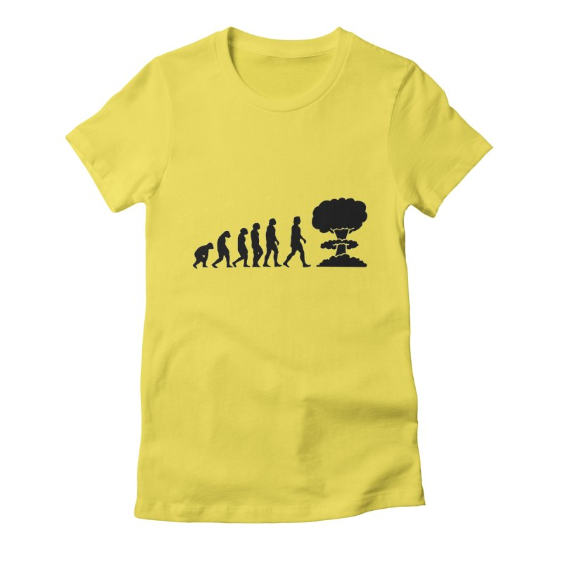 Evolution ends Nuclear Women's T-Shirt by oldtee's Artist Shop