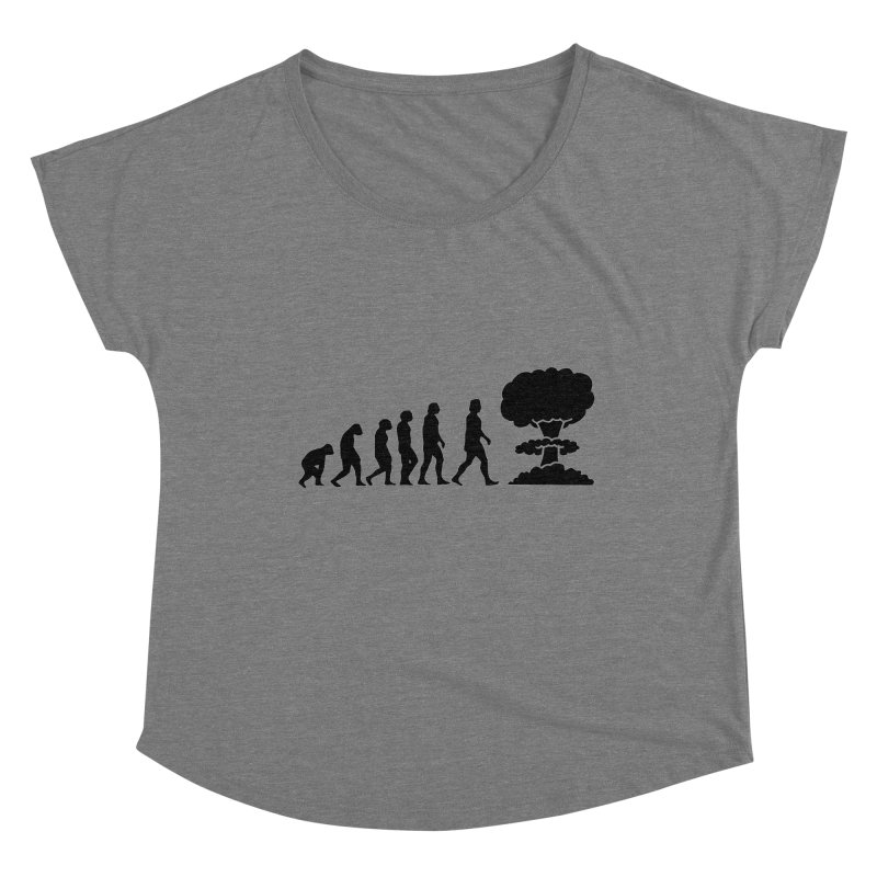 Evolution ends Nuclear Women's Scoop Neck by oldtee's Artist Shop