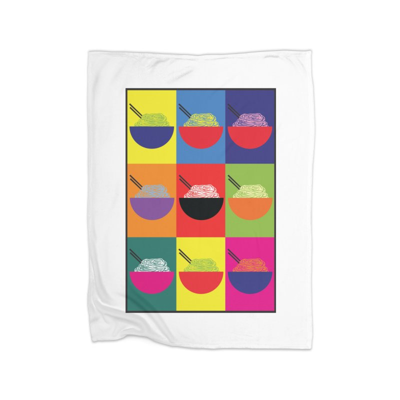 Pop Pho Home Fleece Blanket Blanket by oldtee's Artist Shop