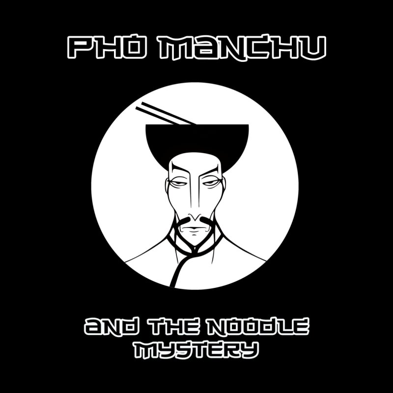 Pho Manchu and the noodle mystery Men's T-Shirt by oldtee's Artist Shop