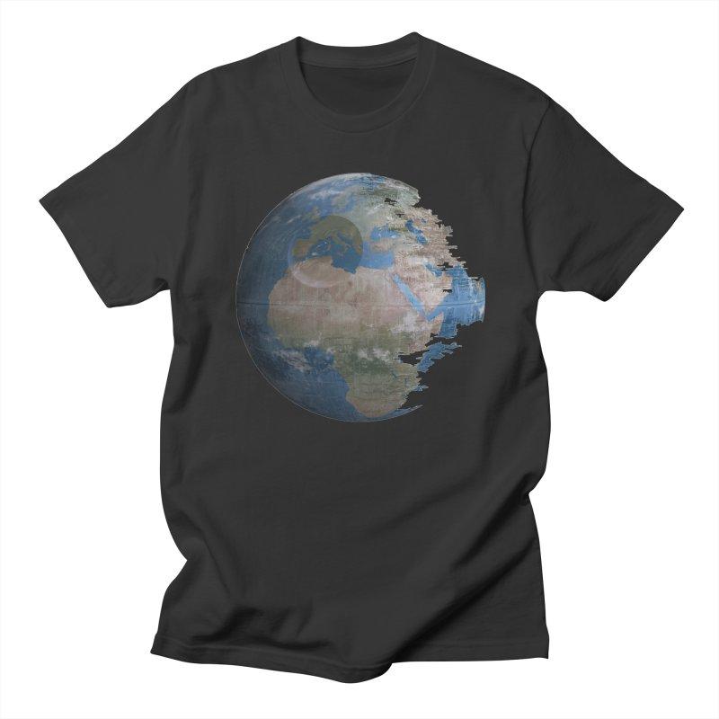 Death Earth Men's Regular T-Shirt by oldtee's Artist Shop