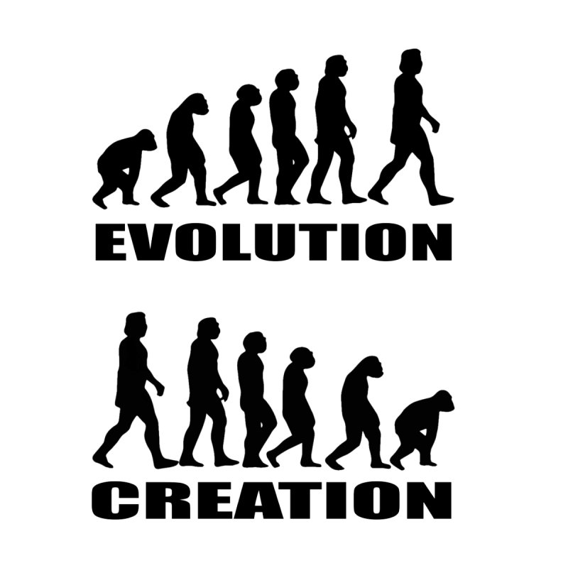 Evolution Creation Men's T-Shirt by oldtee's Artist Shop