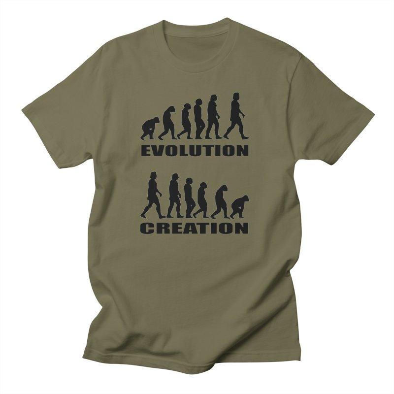 Evolution Creation Men's T-Shirt by oldtee's Artist Shop