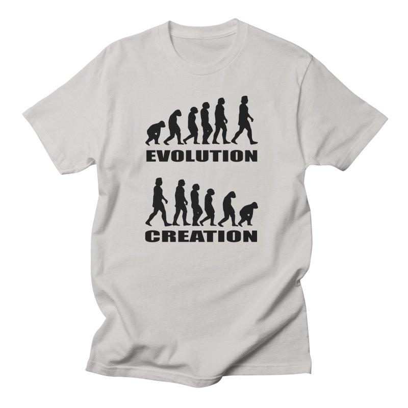 Evolution Creation Men's Regular T-Shirt by oldtee's Artist Shop