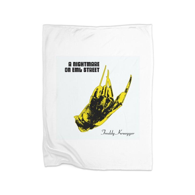 Freddy Banana Home Fleece Blanket Blanket by oldtee's Artist Shop