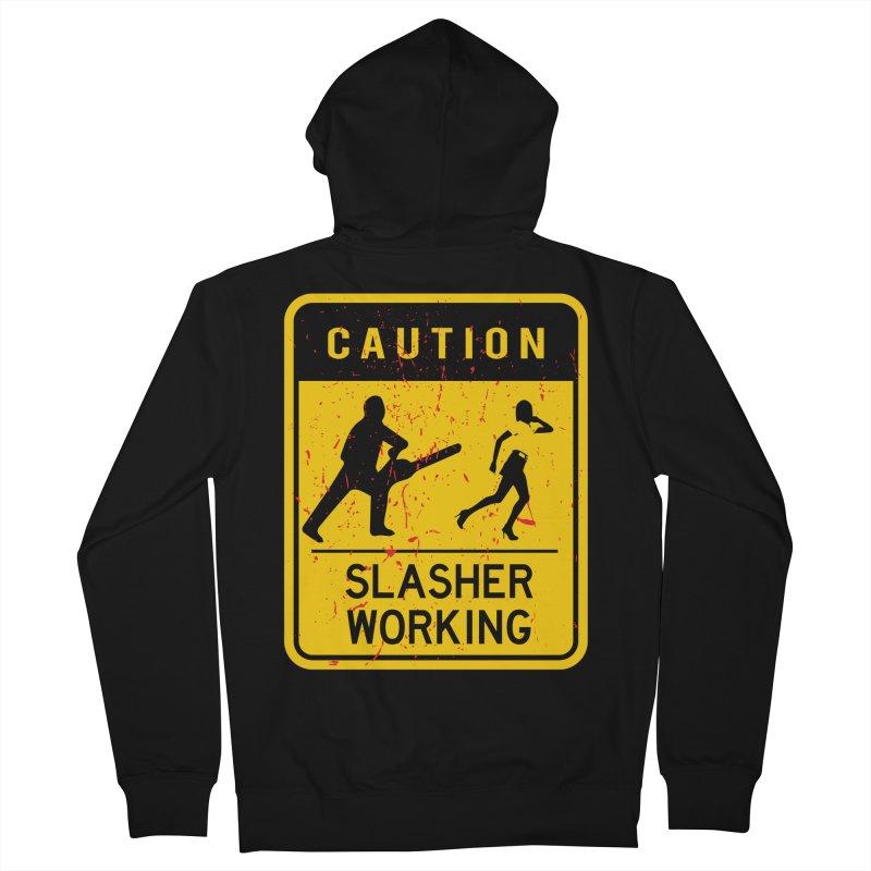 Slasher Working Men's Zip-Up Hoody by oldtee's Artist Shop