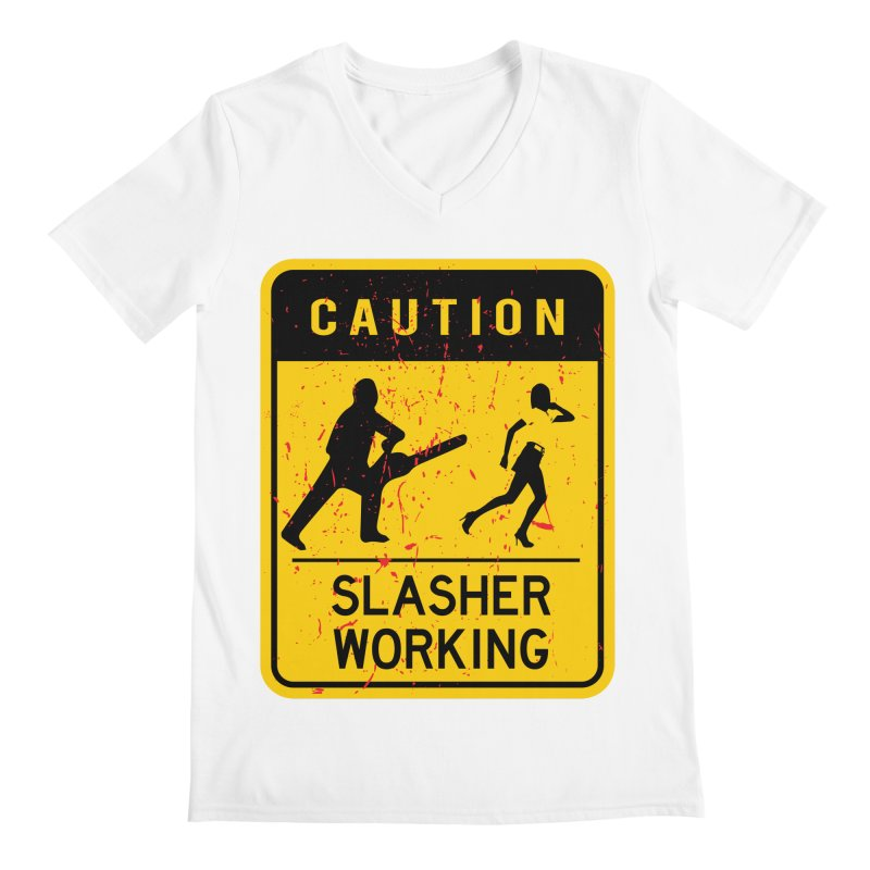 Slasher Working Men's V-Neck by oldtee's Artist Shop