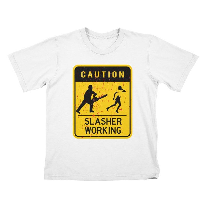 Slasher Working Kids T-Shirt by oldtee's Artist Shop