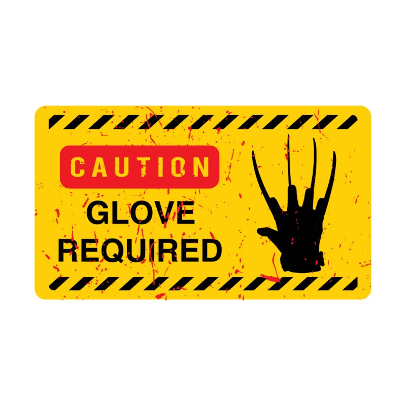 Caution Glove required Men's T-Shirt by oldtee's Artist Shop