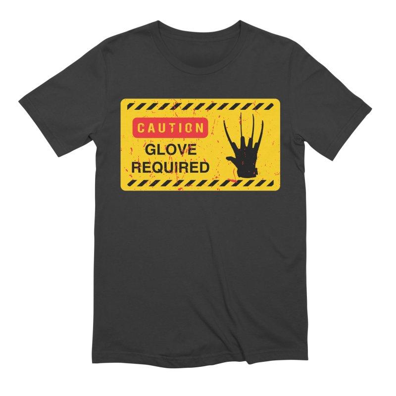 Caution Glove required Men's T-Shirt by oldtee's Artist Shop