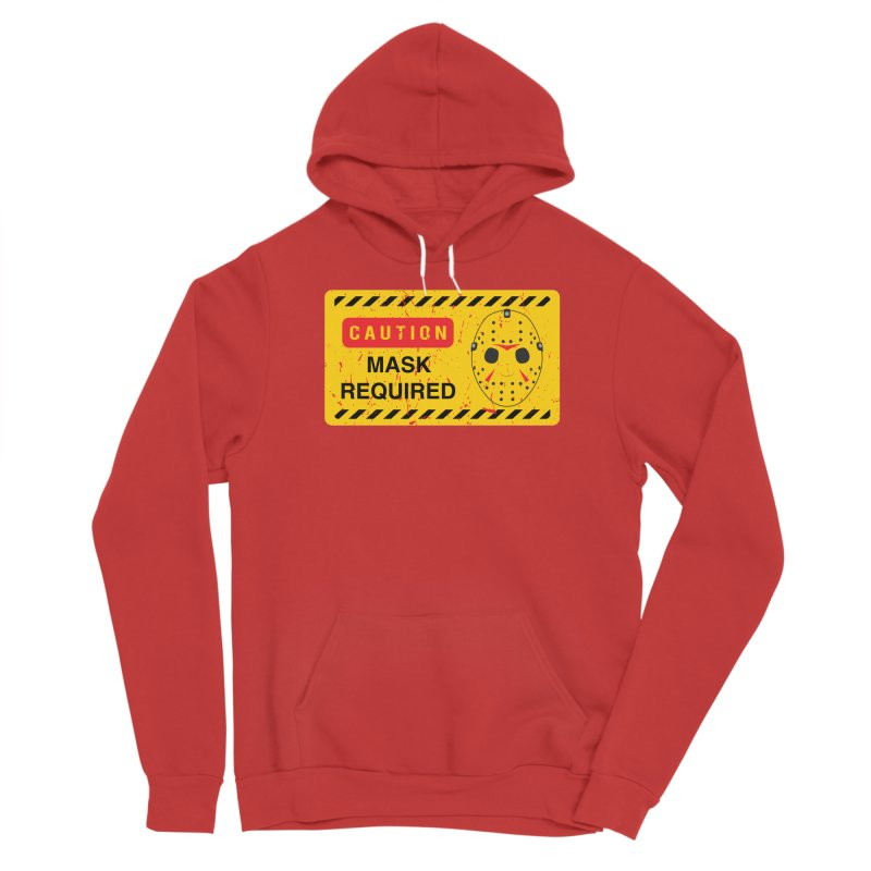 Caution Jason Land Men's Pullover Hoody by oldtee's Artist Shop
