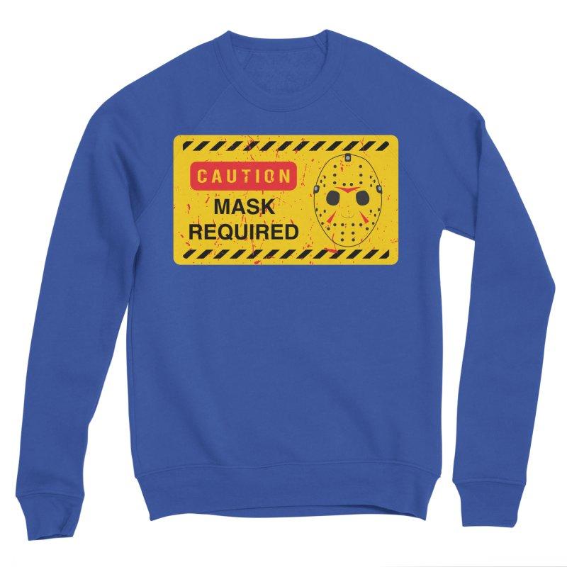 Caution Jason Land Men's Sponge Fleece Sweatshirt by oldtee's Artist Shop