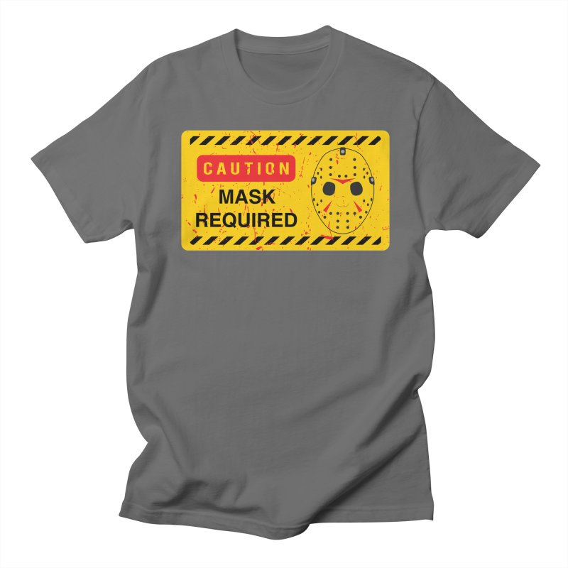 Caution Jason Land Men's T-Shirt by oldtee's Artist Shop