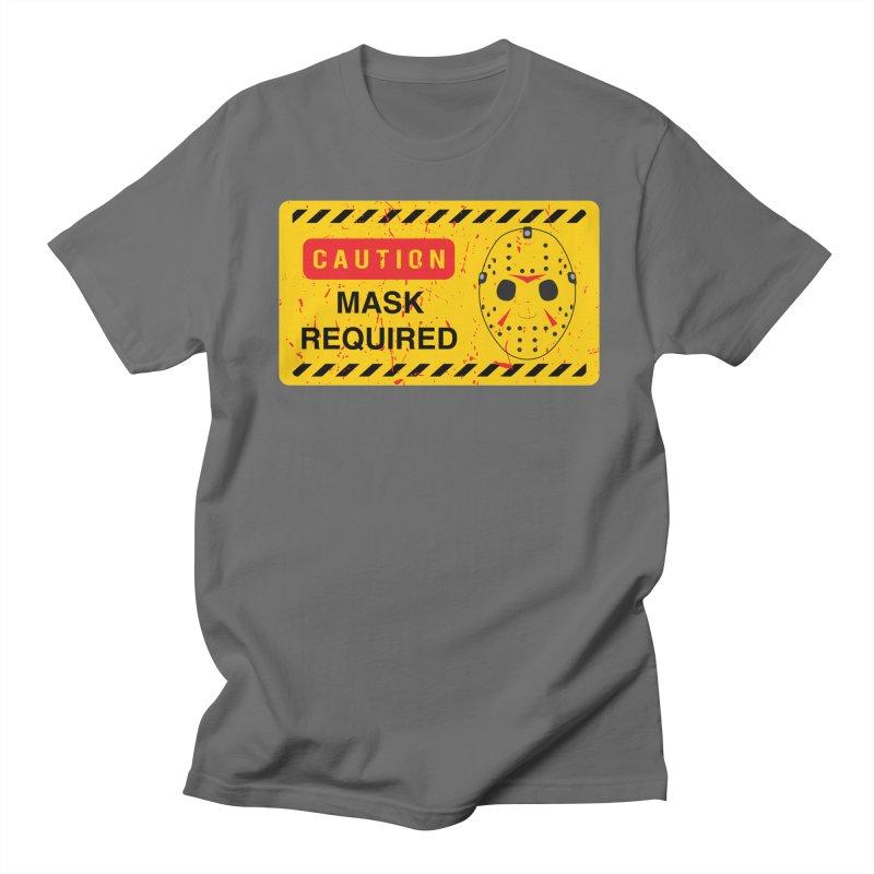 Caution Jason Land Men's T-Shirt by oldtee's Artist Shop