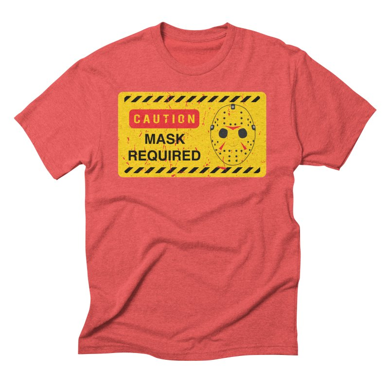 Caution Jason Land Men's Triblend T-Shirt by oldtee's Artist Shop