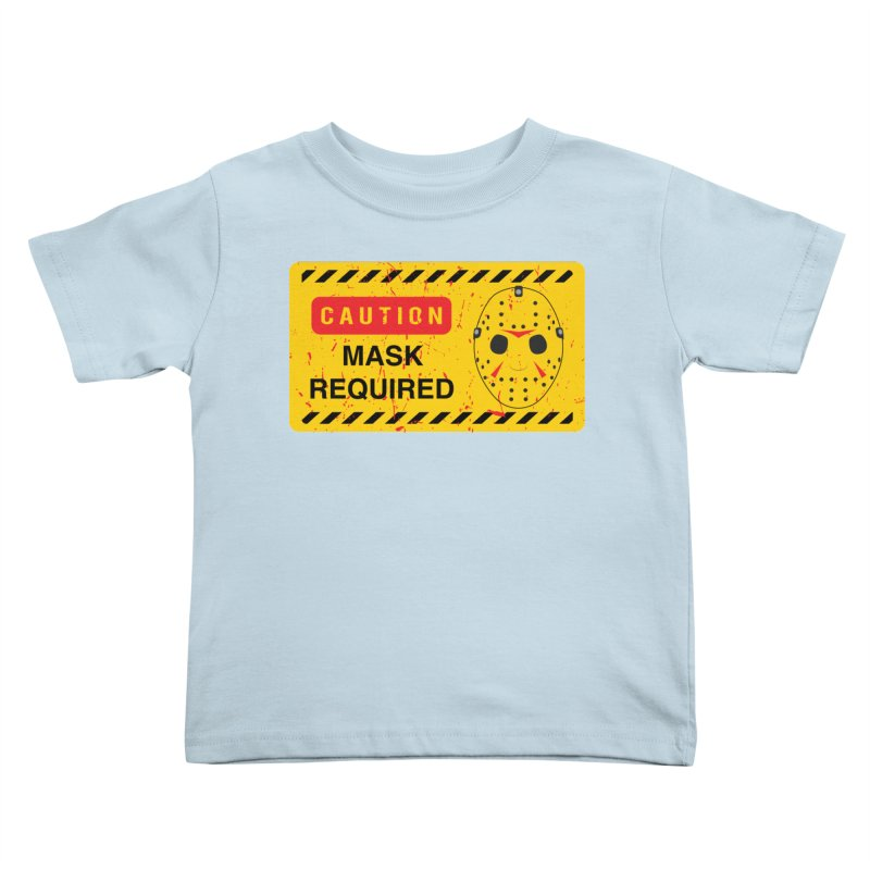 Caution Jason Land Kids Toddler T-Shirt by oldtee's Artist Shop