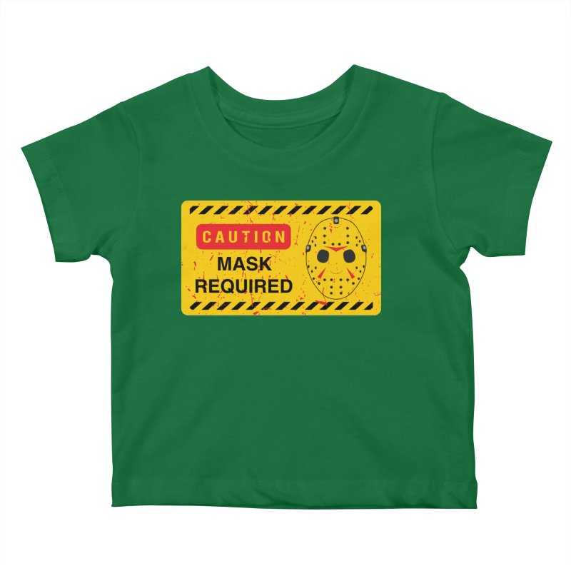 Caution Jason Land Kids Baby T-Shirt by oldtee's Artist Shop