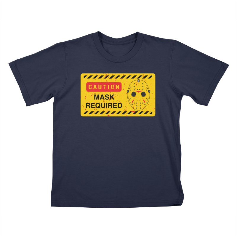 Caution Jason Land Kids T-Shirt by oldtee's Artist Shop