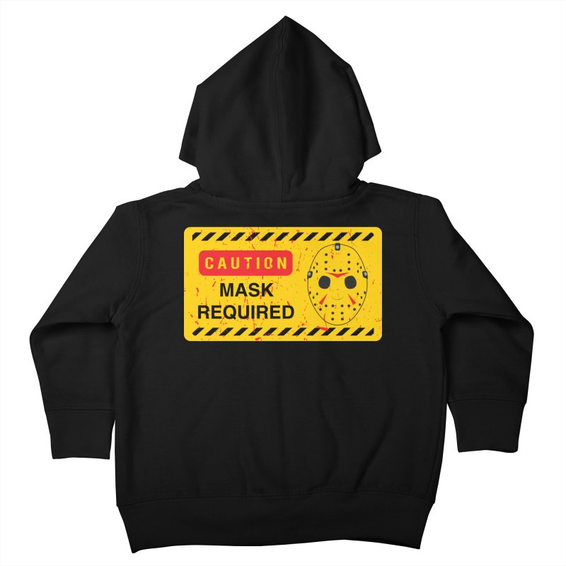 Caution Jason Land Kids Toddler Zip-Up Hoody by oldtee's Artist Shop