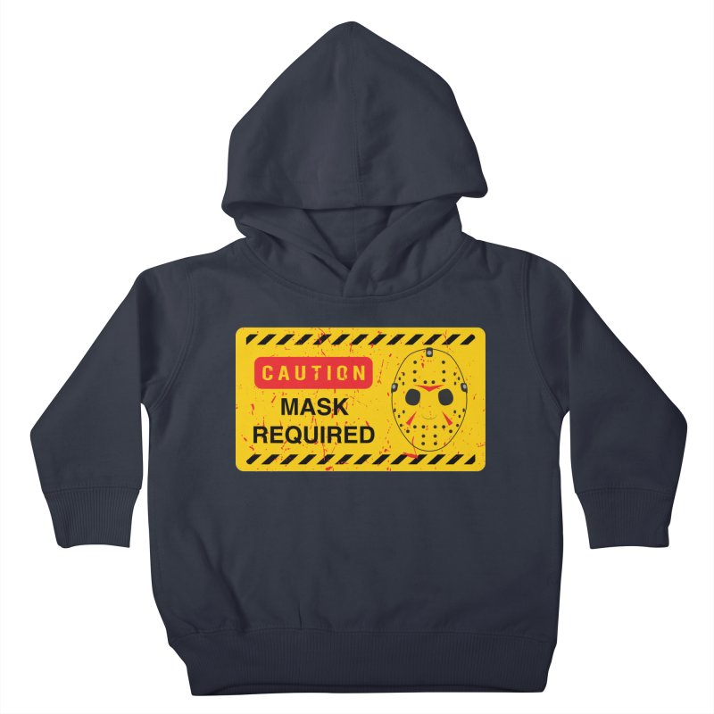 Caution Jason Land Kids Toddler Pullover Hoody by oldtee's Artist Shop