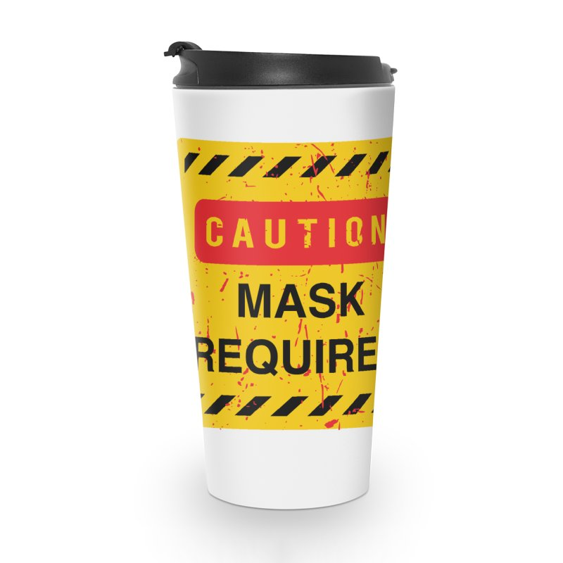Caution Jason Land Accessories Travel Mug by oldtee's Artist Shop