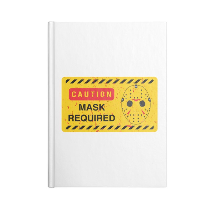 Caution Jason Land Accessories Lined Journal Notebook by oldtee's Artist Shop
