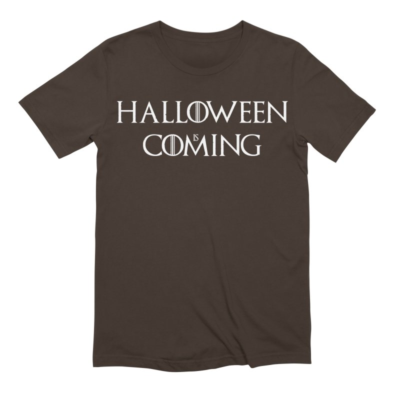 Halloween is coming Men's Extra Soft T-Shirt by oldtee's Artist Shop