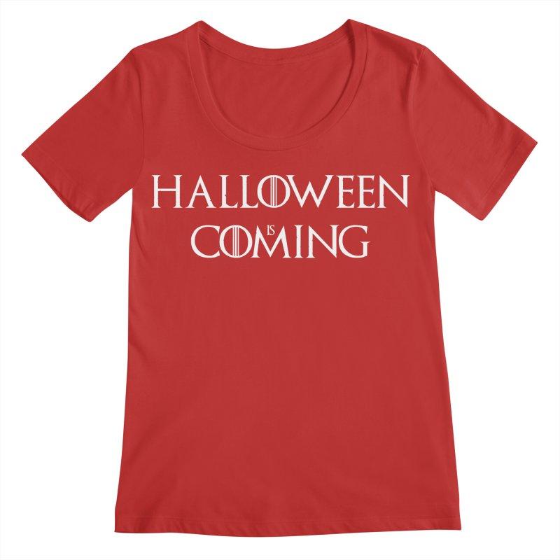 Halloween is coming Women's Regular Scoop Neck by oldtee's Artist Shop
