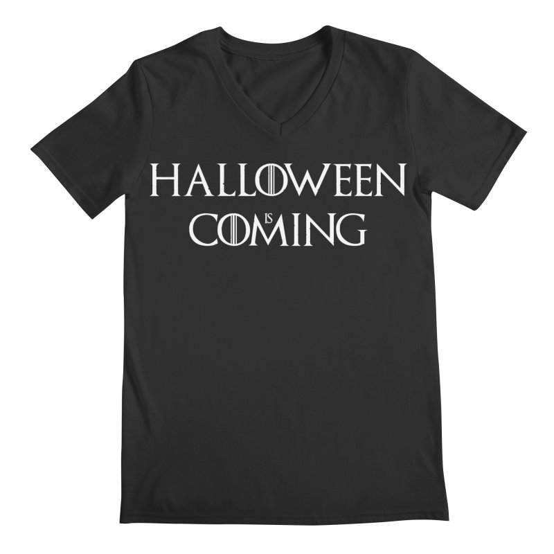 Halloween is coming Men's Regular V-Neck by oldtee's Artist Shop