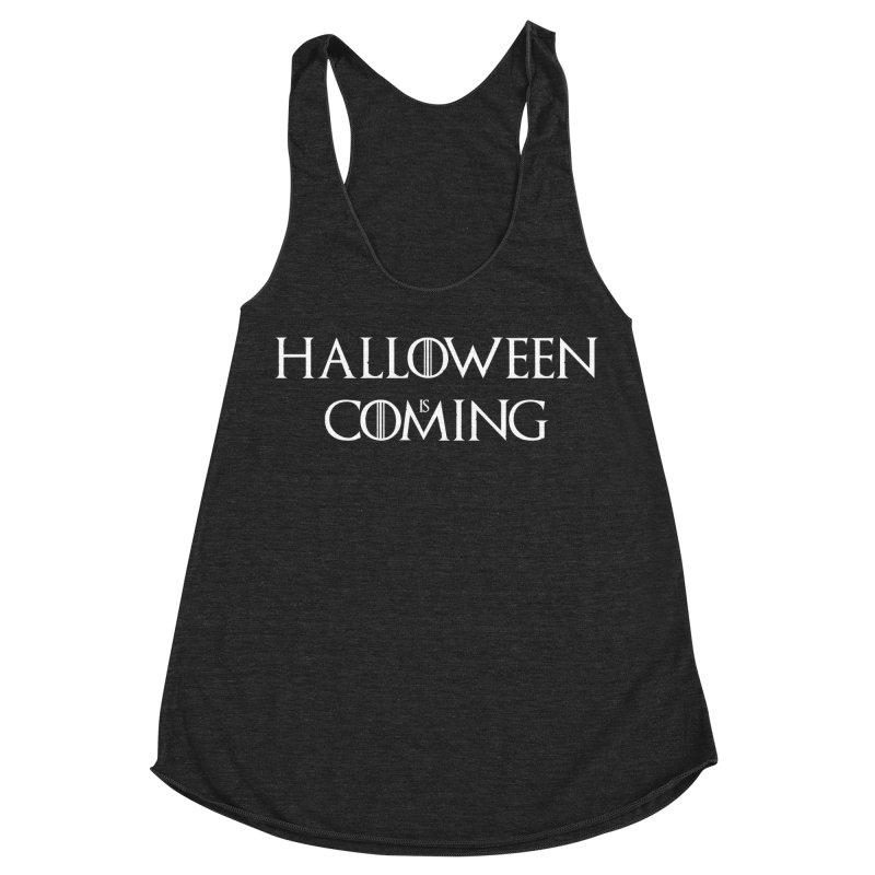 Halloween is coming Women's Racerback Triblend Tank by oldtee's Artist Shop