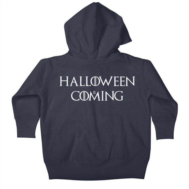 Halloween is coming Kids Baby Zip-Up Hoody by oldtee's Artist Shop