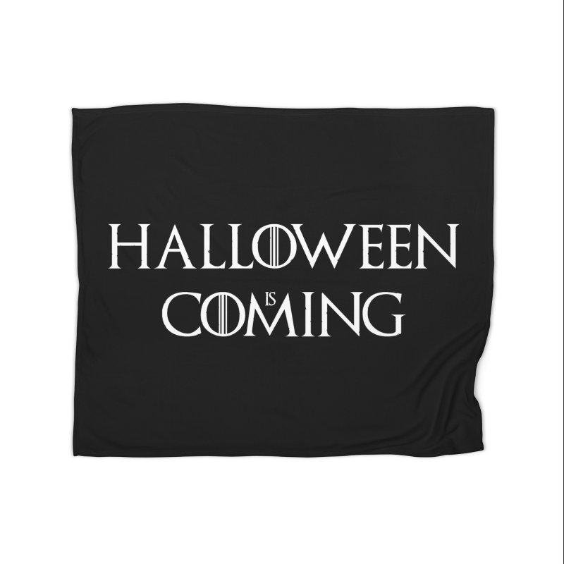 Halloween is coming Home Fleece Blanket Blanket by oldtee's Artist Shop