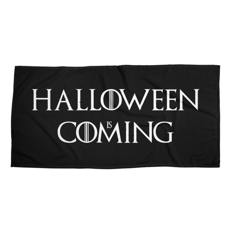 Halloween is coming Accessories Beach Towel by oldtee's Artist Shop