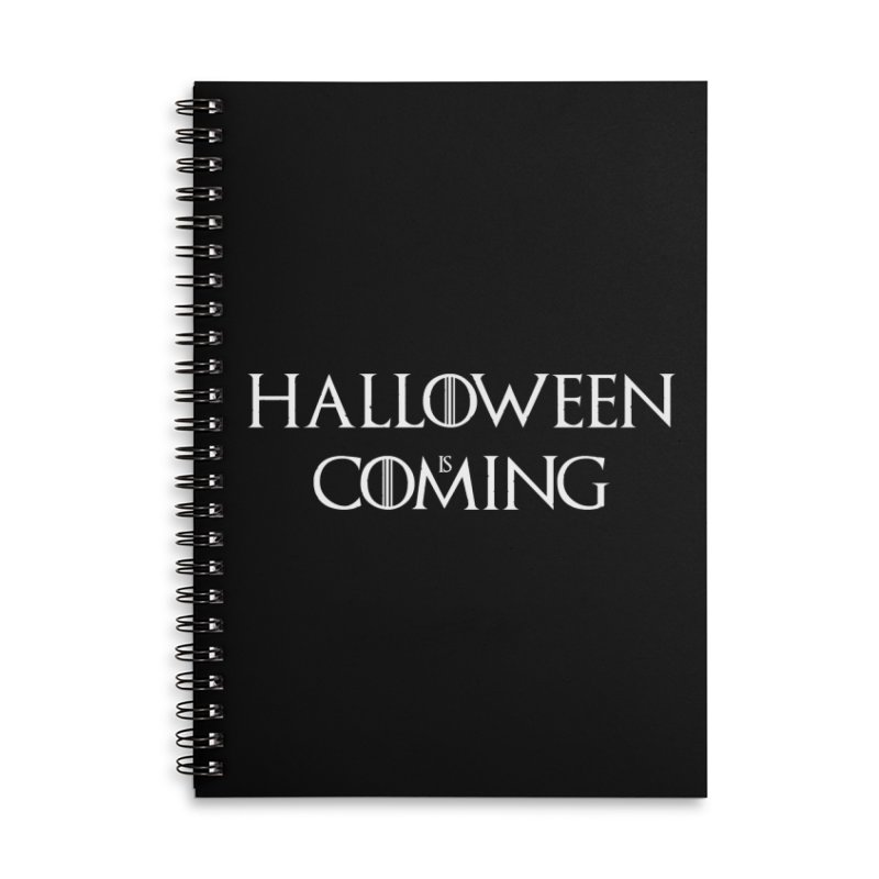 Halloween is coming Accessories Lined Spiral Notebook by oldtee's Artist Shop